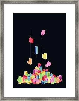 Tetrisometric Framed Print by Julien Missaire