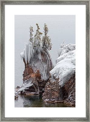 Tettegouche Framed Print by Mary Amerman