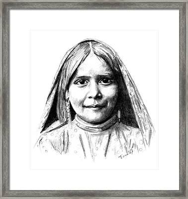 Tewa Girl Framed Print