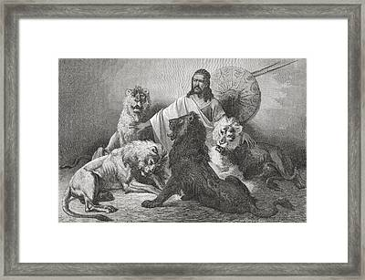 Tewodros Holding Audience, Surrounded Framed Print