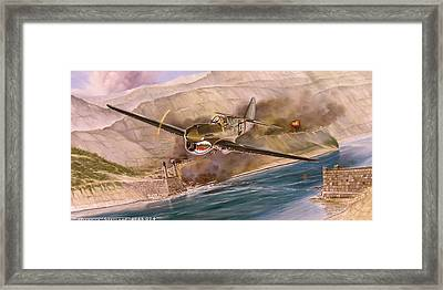 Tex Hill Over The Salween Gorge Framed Print by Marc Stewart
