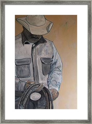 Tex Framed Print by Krista Ouellette