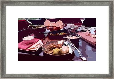 Tex-mex Good Eats Framed Print by Doreen Whitelock