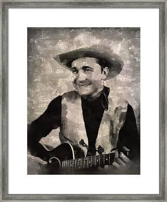 Tex Ritter, Vintage Western Star Framed Print by Mary Bassett