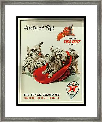 Framed Print featuring the photograph Texaco Antique Sign by Chris Flees