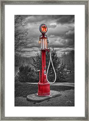 Texaco Gas Pump Framed Print by Williams-Cairns Photography LLC
