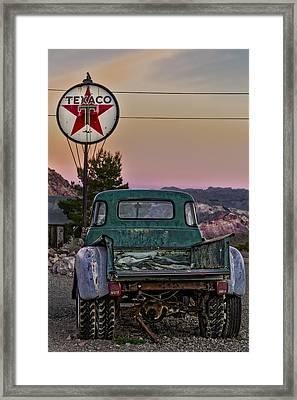 Texaco Gas Station Framed Print