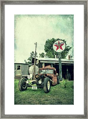 Texaco Framed Print