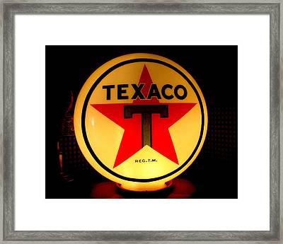 Texaco Framed Print by Lisa Jayne Konopka