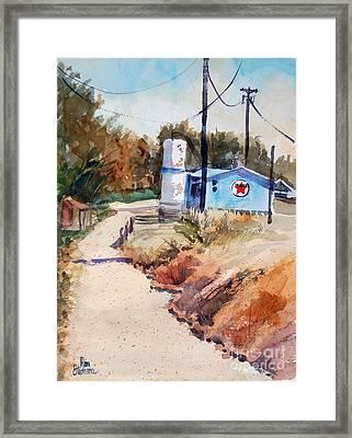 Texaco Framed Print by Ron Stephens