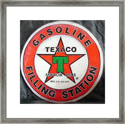 Texaco Sign Framed Print