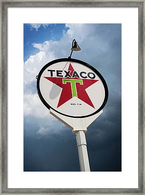 Texaco Star Framed Print by Bud Simpson