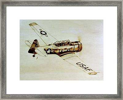 Texan T6 Framed Print by Ilaria Andreucci