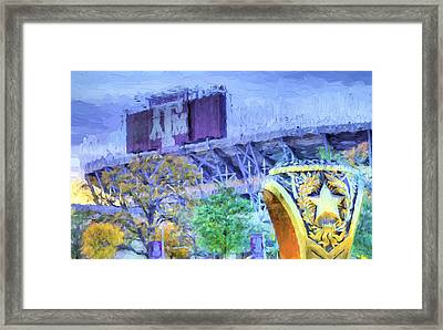 Texas Aggies Ring Framed Print by JC Findley