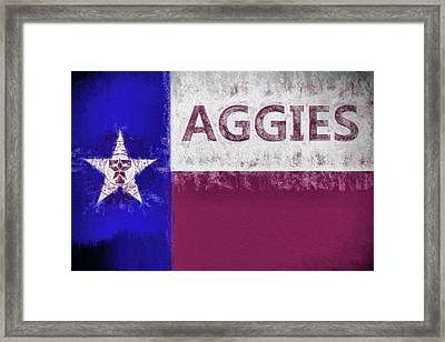 Texas Aggies State Flag Framed Print by JC Findley