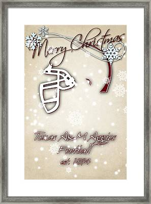 Texas Am Aggies Christmas Card 2 Framed Print by Joe Hamilton