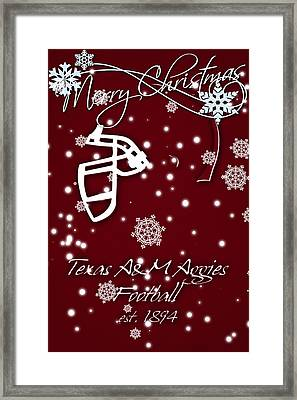 Texas Am Aggies Christmas Card Framed Print