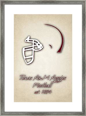 Texas Am Aggies Helmet 2 Framed Print by Joe Hamilton