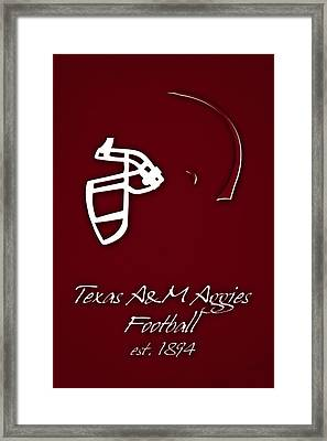 Texas Am Aggies Helmet Framed Print by Joe Hamilton