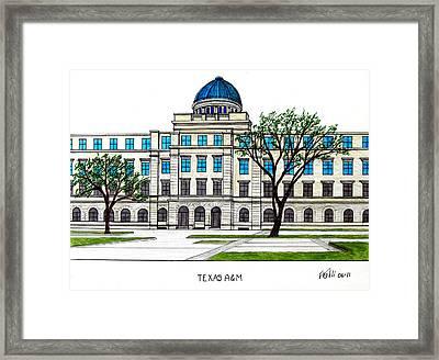 Texas Am University Framed Print by Frederic Kohli