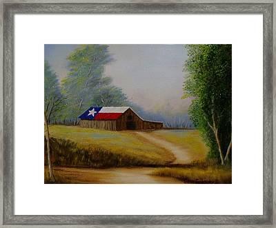 Texas Barn Framed Print by Gene Gregory