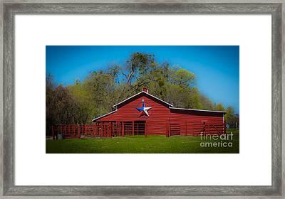 Texas Barn Framed Print by John Roberts