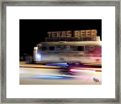Texas Beer Fast Motorcycle #5594 Framed Print