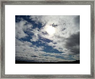 Texas Blue Sky Two Framed Print by Ana Villaronga