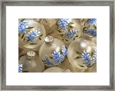 Texas Bluebonnet Ornaments Framed Print