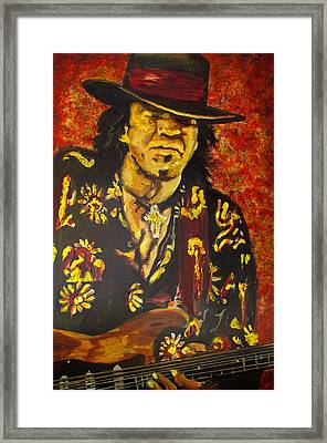 Texas Blues Man- Srv Framed Print