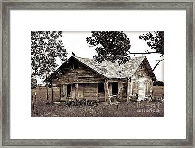 Texas Buzzard Farmhouse I Framed Print by Chris Andruskiewicz