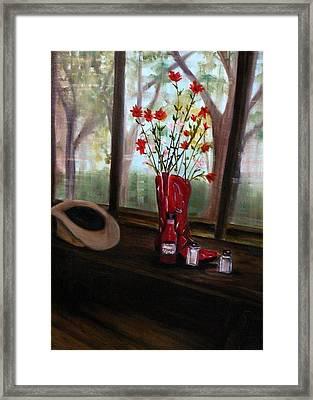 Texas Cafe Framed Print