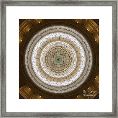 Framed Print featuring the photograph Texas Capital by Robert Meanor