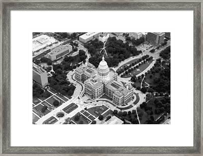 Texas Capitol Bw10 Framed Print by Scott Kelley