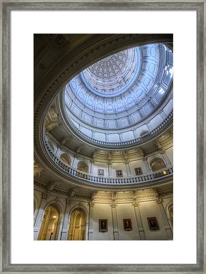 Texas Capitol Dome Interior Framed Print