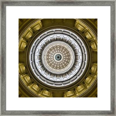 Texas Capitol Dome Framed Print