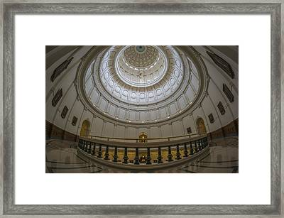 Texas Capitol Dome Wide Angle Framed Print
