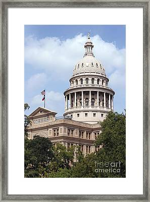Texas Capitol Framed Print by Jeannie Burleson