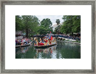 Texas Cavaliers River Parade On The San Antonio River Framed Print by Carol M Highsmith