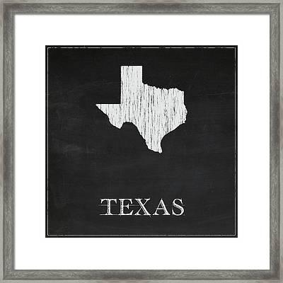 Texas - Chalk Framed Print