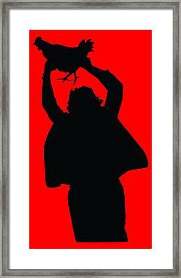 Texas Chicken Massacre Framed Print