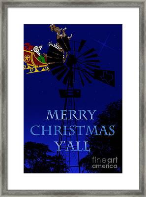 Texas Christmas Card Framed Print