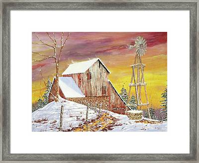 Texas Coldfront Framed Print