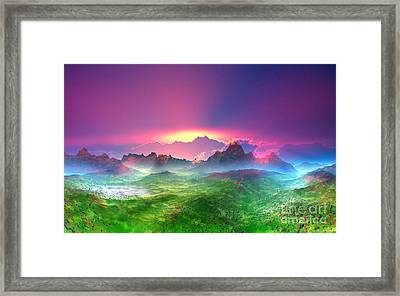 Texas  Country Digital Painting Framed Print