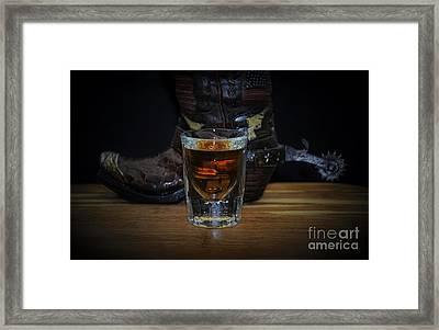 Texas Drink Framed Print