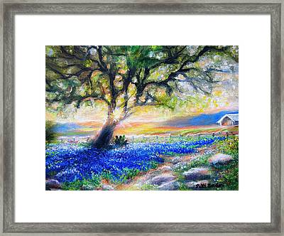 Texas Fanfare Framed Print by Patti Gordon
