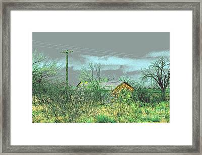 Texas Farm House - Digital Painting Framed Print by Merton Allen