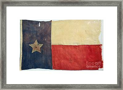 Texas Flag, 1842 Framed Print by Granger
