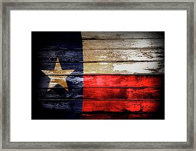 Texas Flag Framed Print by Les Cunliffe