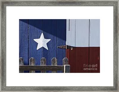 Texas Flag Painted On A House Framed Print by Jeremy Woodhouse